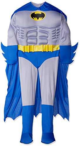 Rubie's Costume Dc Heroes and Villains Collection Deluxe Muscle Chest Batman, Multicolored, Small Costume