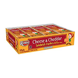 Keebler, Sandwich Crackers, Cheese and Cheddar, 11oz Tray (8 Count)