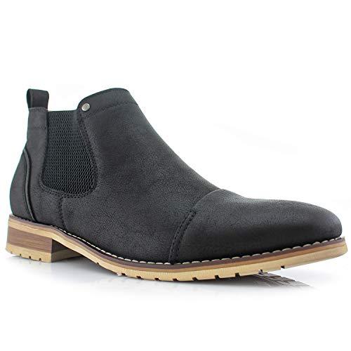Ferro Aldo Sterling MFA606325 Mens Casual Chelsea Slip on Ankle Boots – Black Size 10.5