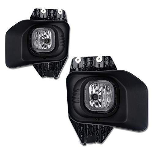 Clear Front Bumper Lenses - TC Sportline LA-FOFS1101CL-W OE Style Pair Clear Lens Front Bumper Driving Fog Lights Lamp with Switch Wire - For 2011-2016 Ford F-250 Super Duty/F-350 Super Duty/F-450 Super Duty