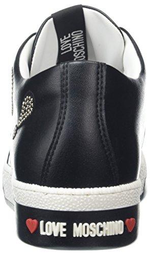 Nero PU Mujer para Black love30 Zapatillas Negro Moschino Scarpad Love Vitello wqfIXnA