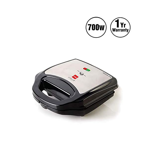 Cello GM-700 700 Watt Grill and Sandwich Maker (Black) 2021 June Great tasting sandwiches at your home The indicator light which helps to understand sandwich is ready Locking handle, non stick grill easy to clean