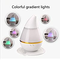GMJF Aromatherapy Essential Oil Diffuser, Ultrasonic Cool Mist Air Humidifier with 7 Changing LED Colors, Waterless Auto Shut-off for car and room