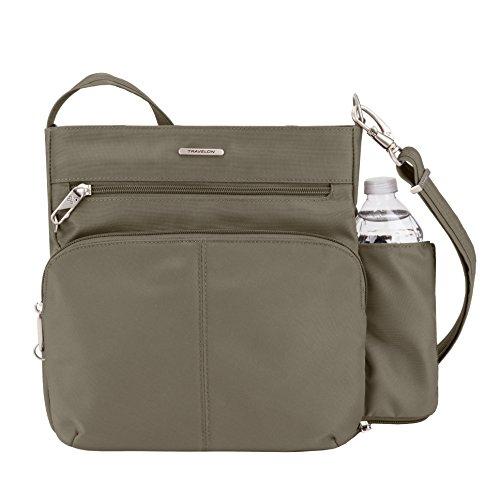 Travelon Anti-theft Classic N/S Cross Body Bag, Nutmeg