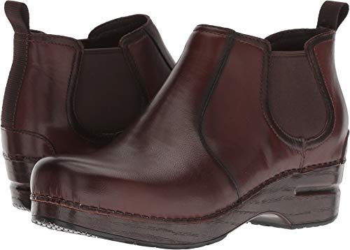 Dansko Women's Frankie Ankle Boot, Brown Burnished Full Grain, 36 M EU (5.5-6 US)