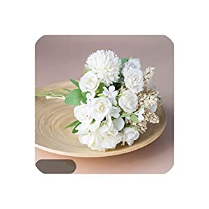 22Cm Exquisite Small Vase Flower Bud Flower Small Bouquet Home Party Spring Wedding Decoration Wedding Fake Flower,5