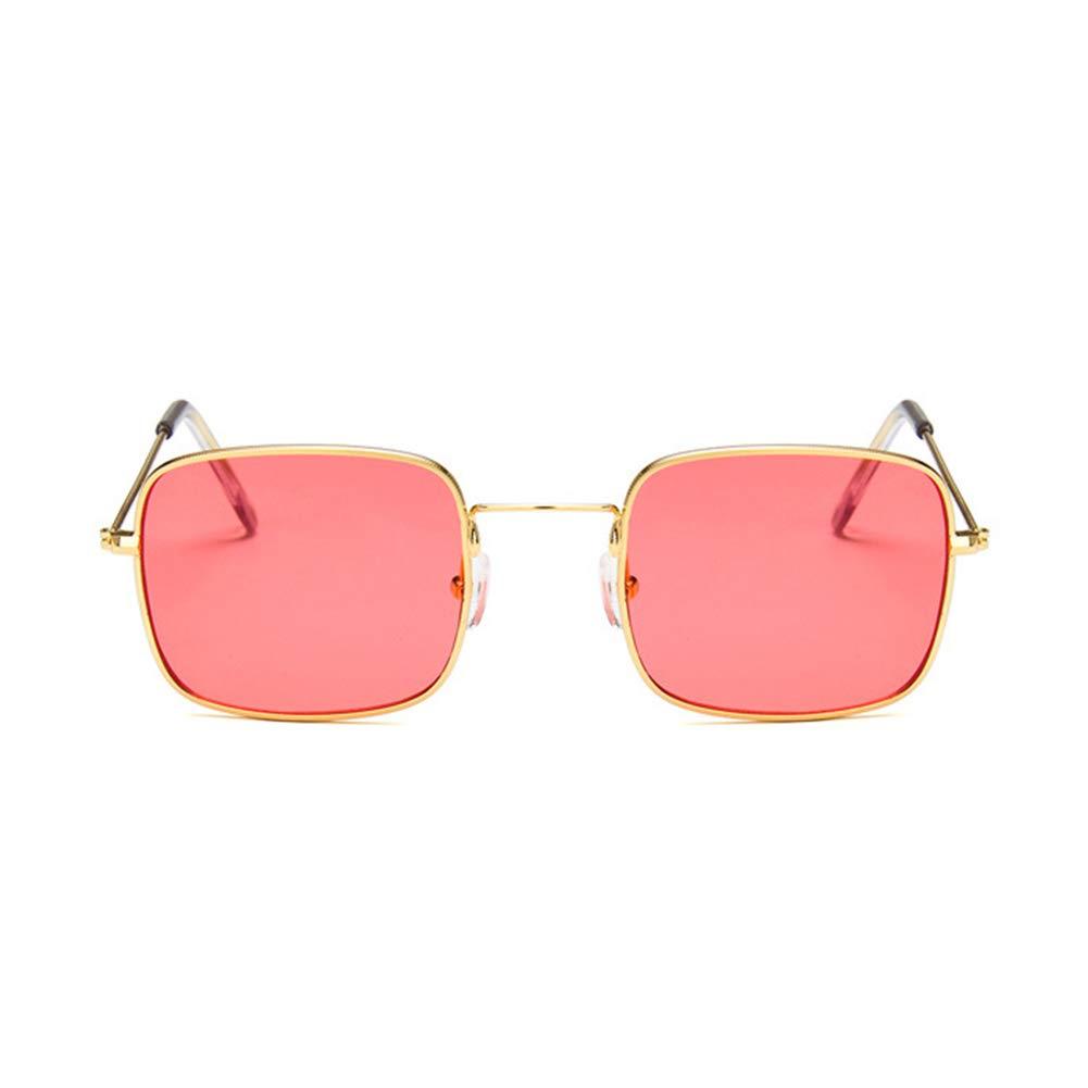 Pink Lens Topsair Fashion Retro Square Frame Women//Men Sunglasses