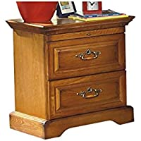 Haverhill Country 2 Drawer Night Stand in Honey Oak Wood