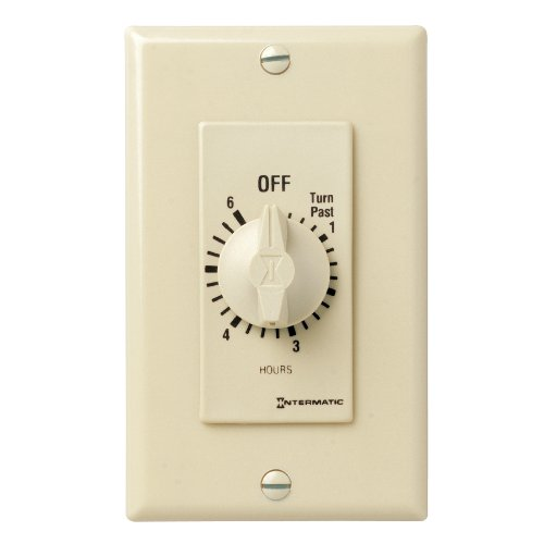Intermatic FD6H 6-Hour Spring-Loaded Wall Timer for Lights and Fans, Ivory