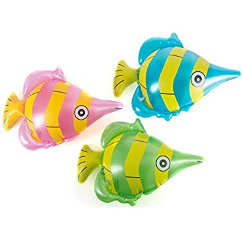 """Amazon.com: 4 Colorful Inflatable Clownfish 24""""/Party ..."""