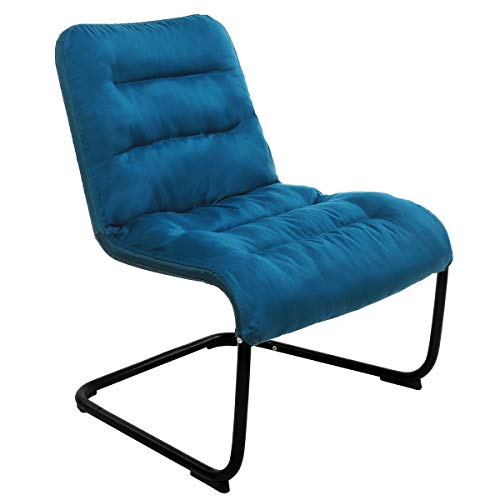 Zenree Comfortable Bedroom Chairs – Folding Reading Chair – Padded Comfy Lounge Chair with Soft Cushion for Living Room/Apartment / College Dorm Blue For Sale