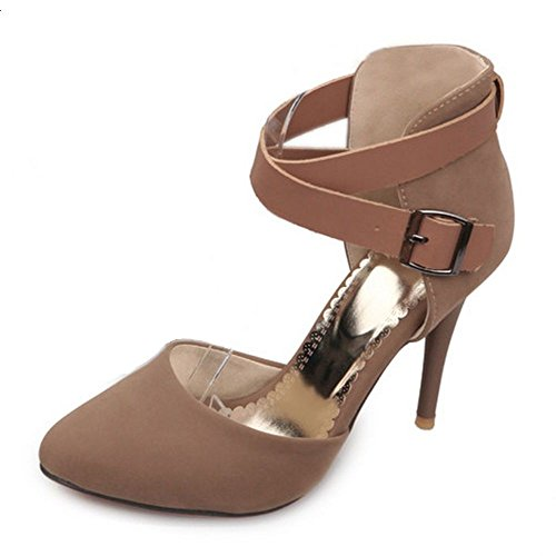 Ivory LongFengMa Women Sexy Heel Sandals High Ankle Wrap px0dqwp