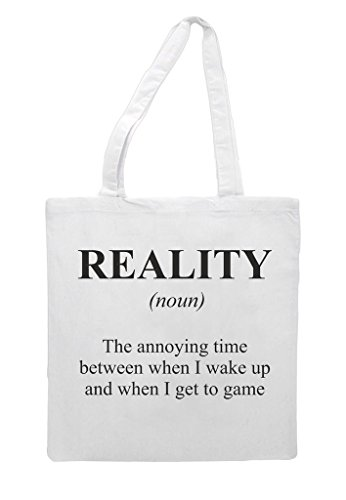 Alternative Definition Gaming Shopper Bag White Dictionary In Funny Not Tote Reality The dta75qwqv
