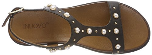 Inuovo Women's 8737 T-Bar Sandals Black (Black) where can i order outlet how much cheap sale perfect clearance the cheapest azd1M