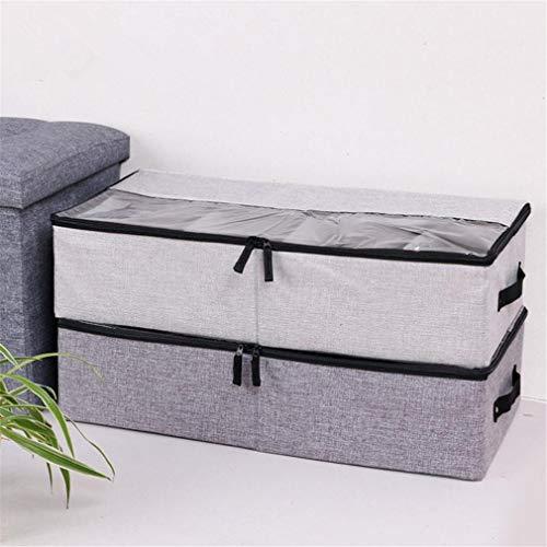VADOLY Foldable Shoe Box Wardrobe Closet Organizer for Sock Bra Underwear Linen Cotton Storage Bag Under Bed Organizer by VADOLY (Image #6)