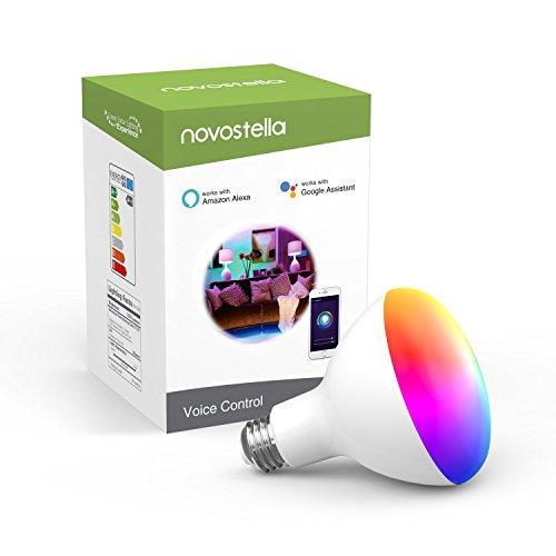 Novostella BR30 Smart LED Bulb, RGBCW with Tunable White 2700-6500K Wi-Fi Flood Light Bulbs [10W 1050LM] 85W Equivalent Dimmable Multicolored Lights No Hub Required Works with Alexa and Google Home