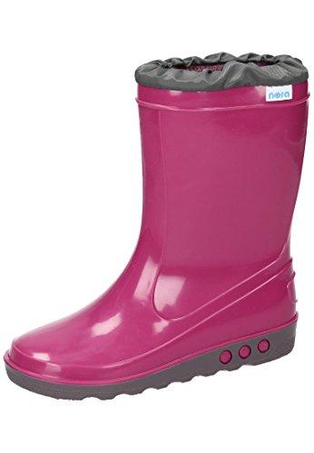 Nora Gummistiefel ungef?ttert in pink Pink