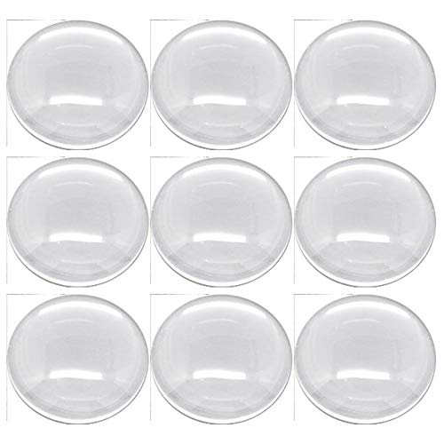 Rockin Beads Brand, 20 Clear Glass Dome Tile Cabochon Clear 30mm 1.18 Inch Non-calibrated Round Colored Glass Tile Magnets