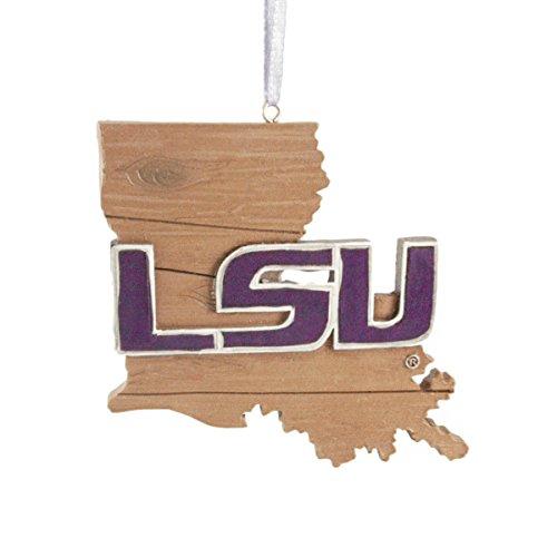 (Louisiana State University Hanging State Shaped Ornament)