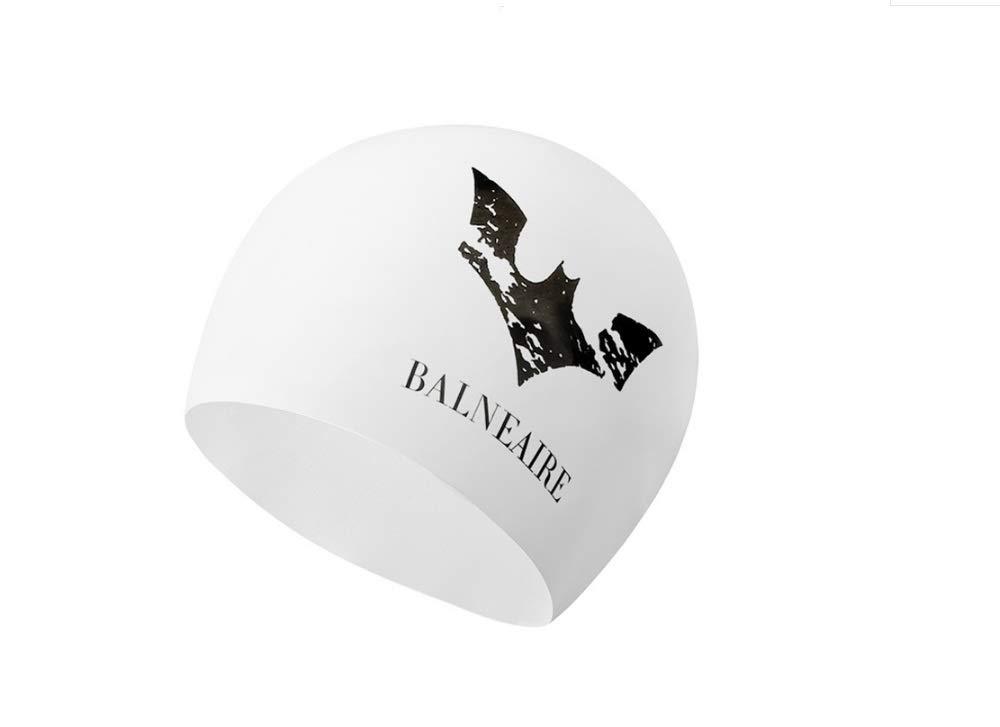 スイミングキャップ男性と女性の大人のプロフェッショナルシリコーンスイミングキャップロングヘア防水帽子 (Color : ホワイト)  ホワイト B07QJ2ZHKT