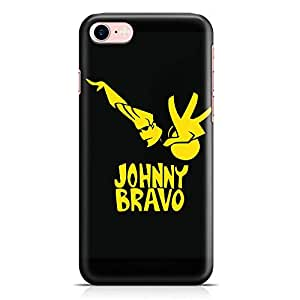 Loud Universe Johny Bravo Yellow iPhone 7 Case Black and Yellow iPhone 7 Cover with 3d Wrap around Edges