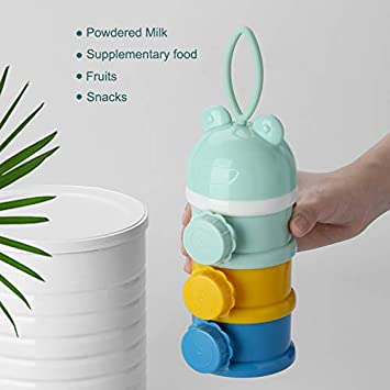 Milchpulver Vorratsbeh/älter f/ür Lebensmittel Classicoco Milk Powder Box Snack Formula Powder 3 Schichten Milchpulver Box Stapelbarer Snack-Aufbewahrungsbeh/älter f/ür versch/üttete Mengen