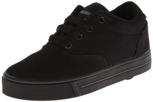 Heelys Launch Skate Shoe ,Black Canvas,1 M US Little - Shoes Black Girls Heely