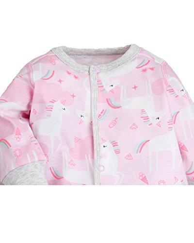Kidsform Baby Infant Boy Girl Cotton Bodysuit Sleepwear Long Sleeve Footless Romper C 6-12M