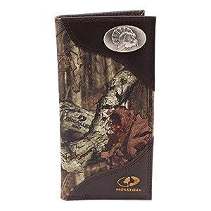 ZEP-PRO Mens Mossy Oak Nylon/Leather Concho Wallet (Turkey)