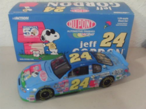 - 2000 Jeff Gordon 24 DUPONT Snoopy Peanuts Monte Carlo 1/24 Scale Diecast Action CWC Clear Window Car Opening Hood, Trunk Action Racing Collectables Limited Edition ARC 2000
