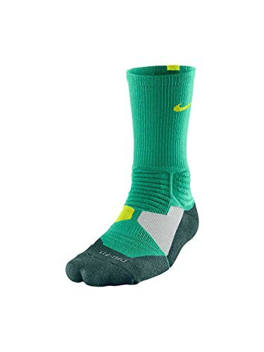Nike HYPER Elite Crew Socks - Emerald Green/Volt-SM