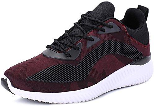 Odema Herren Neuer Leichtgewichtler Sohle Leicht Gehende Athletische Laufschuhe Sneakers Rot