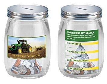 John Deere Glass Savings Jar