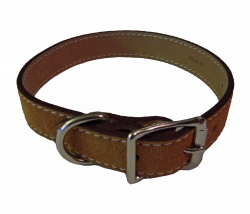 Saratoga Suede Dog Collar - Toast