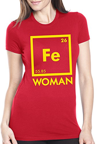 Women's Chemistry Iron Woman T Shirt Cute Science Shirt Superhero Tee