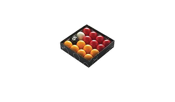 Geordie Pool Pelotas de Billar de 2 Pulgadas, Color Rojo y ...
