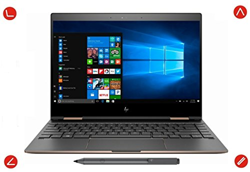 HP Spectre x360 13t Touchscreen Yoga Style 2-In-1 Windows 10 Pro Laptop & Tablet – Intel i7-8550U Quad Core, 13.3″ 4K 3840×2160 IPS, 1TB NVMe SSD, 16GB DDR4 RAM, Thunderbolt 3, Dark Ash