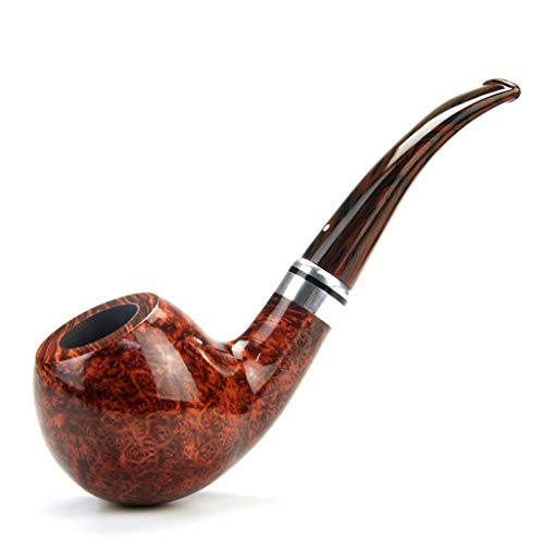 Tobacco Pipe Heather Wood Quality Solid Wood Curved high-Grade Pipe Business Gifts Handmade Pipe