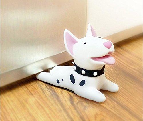URToys Cute Cartoon Dog Door Stopper Holder Bull Terrier PVC safety for baby Home decoration Dog Anime Figures Toys for Children