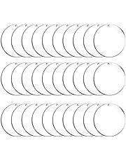 Acrylic Keychain Blanks Bulk, 30 Pcs 1.96 Inch Clear Circle Keychains Acrylic Transparent Circle Discs for Diy Crafts