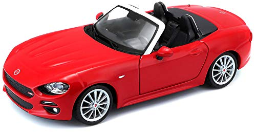 Bburago B18-21083 Fiat 124 Spider Diecast Model Kit, 1:24 Scale (Colour May Vary)