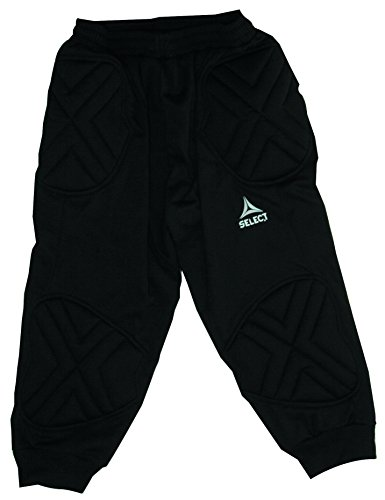 Select Sport America Kansas 3/4 Goalkeeper Pants, Black, Youth Small