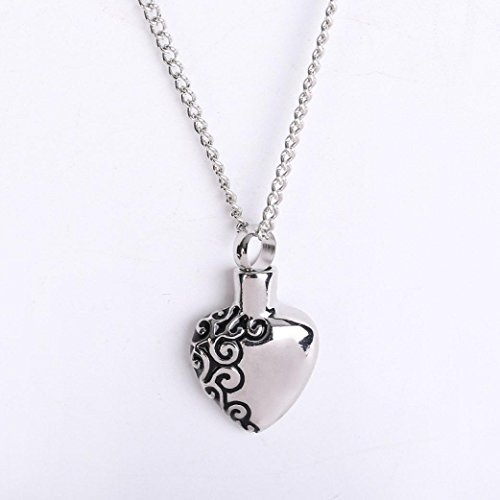 - Fashion Necklace,UMFun Blue Ocean Heart Shaped Pet Ashes Memorial Necklace Pendant Jewelry Gift (D)