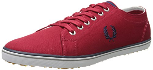 Fred Perry Mens Kingston Twill Fashion Sneaker Blood