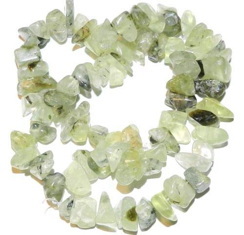 GC114 Jade Green Prehnite Large 10mm -12mm Natural Gemstone Nugget Chip Bead 15'' Crafting Key Chain Bracelet Necklace Jewelry Accessories Pendants