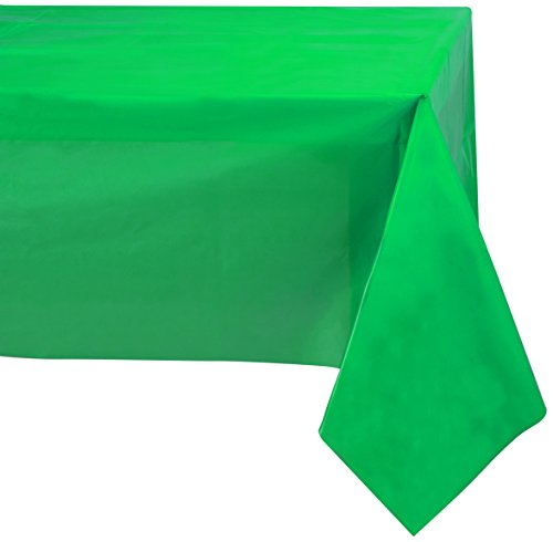 Jubilee 54-Inch-By-108-Inch PEVA Table Cover, 4 Count, Green