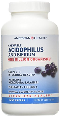 American Health: Chewable Acidophilus, Blueberry 100 -