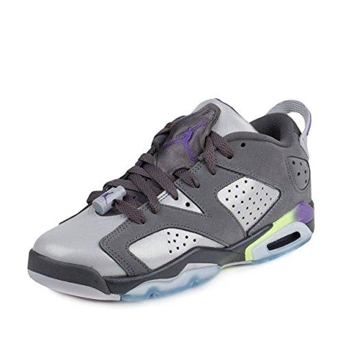 Nike Boys Air Jordan 6 Retro Low GG Ultra Violet Dark Grey/Ultraviolet Purple-Wolf Grey Leather Size 9Y -