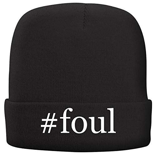 BH Cool Designs #Foul - Adult Hashtag Comfortable Fleece Lined Beanie, Black ()