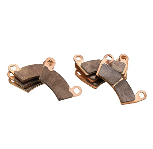 Race Driven Front and Rear Sintered Metal Severe Duty Brake Pads for Polaris Ranger RZR Razor Ace Sportsman ()